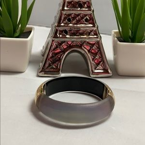 Alexis Bittar Smokey Gray Lucite Bracelet